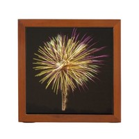 Purple and Gold Firework display