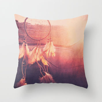 Dream Catcher Throw Pillow by Whitney Retter