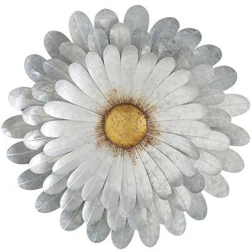 Galvanized Daisy Wall Decor