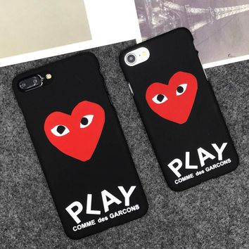 Play Comme des Garcons CDG Hard Matte Protect Case Cover For iPhone X 8 7 6 5 SE
