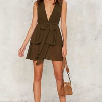 Second Nature Plunging Dress