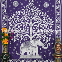 Elephant Tree Tapestry ,Good Luck Elephant Tapestry , Hippie Gypsy Wall Hanging , Tree of Life Tapestry, Psychedelic Elephant Tree Tapestry