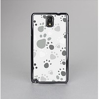 The Gray & White Large Paw Prints Skin-Sert Case for the Samsung Galaxy Note 3