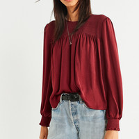UO Rosie Smocked Tie Blouse   Urban Outfitters