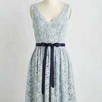 Mid-length Sleeveless A-line Hamptons of Fun Dress