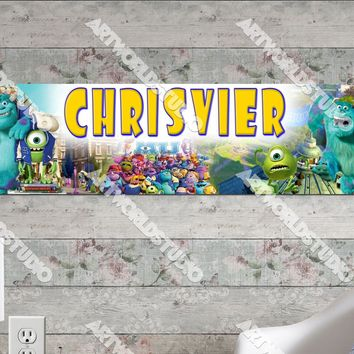 Personalized/Customized Monster University Inc Movie Poster, Border Mat and Frame Options Banner 149