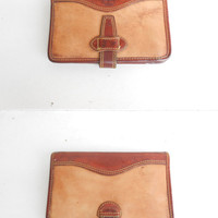 Vintage Leather TIMBERLAND Organizer  Note Book Made in U.S.A