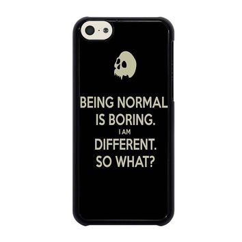 NORMAL IS BORING QUOTES iPhone 5C Case Cover