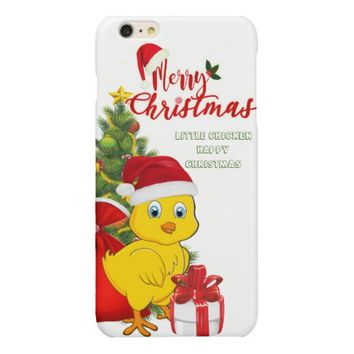 Little Baby Chicken Christmas Glossy iPhone 6 Plus Case