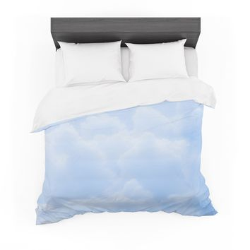 "Susan Sanders ""Blue Candy Clouds"" Blue Pastel Photography Featherweight Duvet Cover"