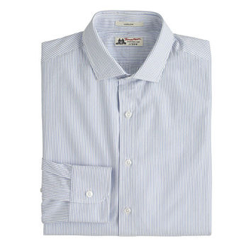 Thomas Mason For J.Crew Ludlow Shirt In Rustic Blue Seersucker