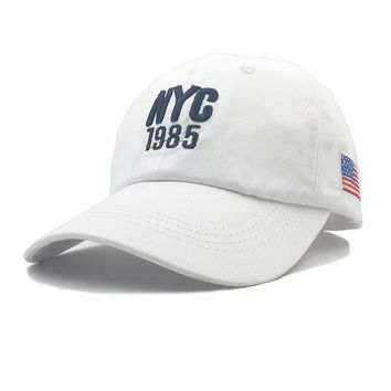 Sports Hat Cap trendy  New Style NYC 1985 Hat Make America Great Again Hats Women Caps Brand Flag Caps USA Baseball Cap Men Outdoor Sports USA Baseball KO_16_1