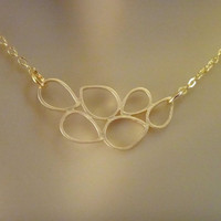 Gold Teardrop Bubble necklace-gold necklace, simple neckalce, everyday neckalce, everyday jewelry