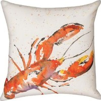 Manual Woodworkers & Weavers Climaweave Lobster Indoor/Outdoor 18-in Square Decorative Throw Pillow