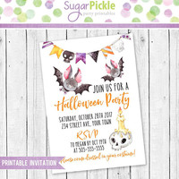 Halloween Party Invitation, Halloween Birthday Invitation, Kids Birthday Party Invitations, Halloween Invitation, Halloween Party Invite