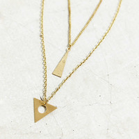 Triangle Prism Layer Necklace - Urban Outfitters