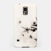 Monochrome Blossoms Close-up Samsung Case, Live Heroes