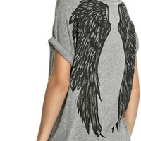 Yoga top, angel wings,yoga clothes, activewear, spirit shirt, spiritual clothing, fitness apparel, yoga clothing, wings