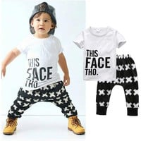 """This Face Tho"" Baby Boy T-Shirt and Matching Pants Set"