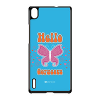 Sassy - Hello Gorgeous 10433 Black Hard Plastic Case for Huawei P7 by Sassy Slang