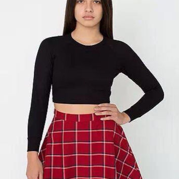 Plaid Print A-Line Circle Mini Skirt