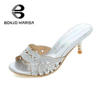 Big size 34-43 Sales Women Flip Flops Outdoor Casual Dress Summer Shoes Woman Cutout Rhinestone Sandals Open Toe Sandal Shoes