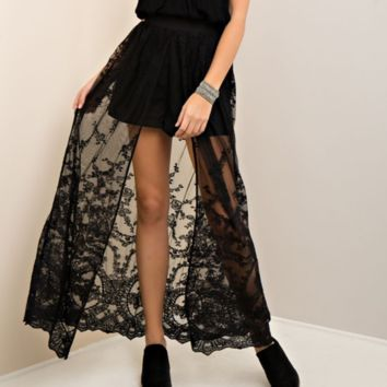 lace maxi skirt - more colors