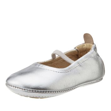 Old Soles Girl's 013 Silver Leather Luxury Ballet Flat