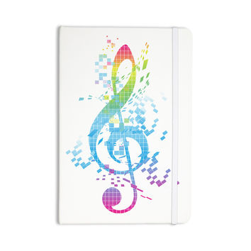 "Frederic Levy-Hadida ""Rainbow Key"" Multicolor Music Everything Notebook"