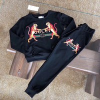 """Gucci"" Women Casual Fashion Letter Double Tiger Print Long Sleeve Sweater Trousers Set Two-Piece Sportswear"