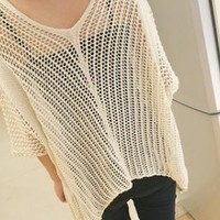 Hollow Loose Shawl Cardigan