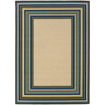 Oriental Weavers Caspian Ivory/Blue Border 1003X Area Rug