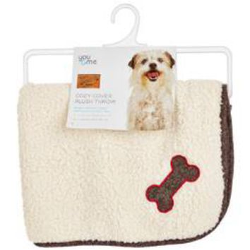 You & Me Cozy Cover Plush Dog Throw