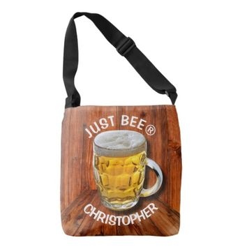 Glass Pint Beer Mug With White Head With Your Text Tote Bag