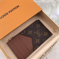 Kuyou Lv Louis Vuitton Gb19710 N64038 Damier Graphite Canvas Small Leather Goods Brown Key & Card Holders Coin Card Holder  8.0 X 14.5 X 1.0 Cm