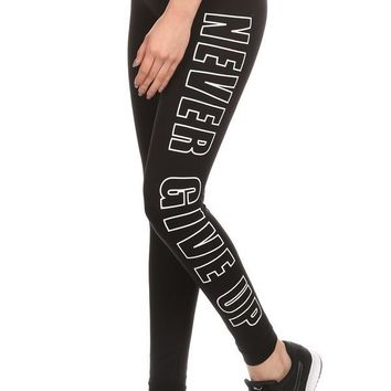Never Give Up Activewear Sport Leggings