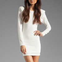 Backstage Long Sleeve Caroline Dress in Ivory from REVOLVEclothing.com