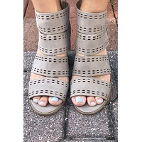 This Ain't Love Wedge - Taupe