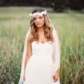 Bohemian Bridal Headpiece. Boho Headband . Whimsical Flower Headband.