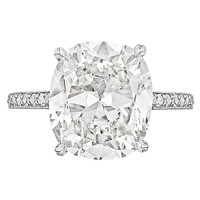 5.72 Carat GIA Cert Cushion-Cut Diamond Platinum Engagement Ring