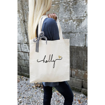 Bridesmaid Tote Bag, Personalized Bridesmaid Gift, Maid of Honor Totes, Bridal Party Bags