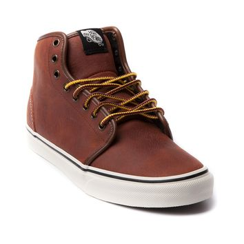 Mens Vans 106 Hi Skate Shoe, Brown | Journeys Shoes