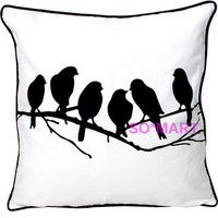 MODERN POP ART PILLOW CASE CUSHION COVER SHAM Printed Bird Birds Decor Picture