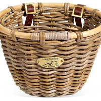 Tuckernuck Adult Oval Basket, Natural, Bike Accessories
