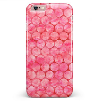Pink Sorted Large Watercolor Polka Dots iPhone 6/6s or 6/6s Plus INK-Fuzed Case