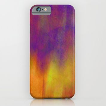 Purple Dawn abstract art by Ann Powell iPhone & iPod Case by Art64 | Society6