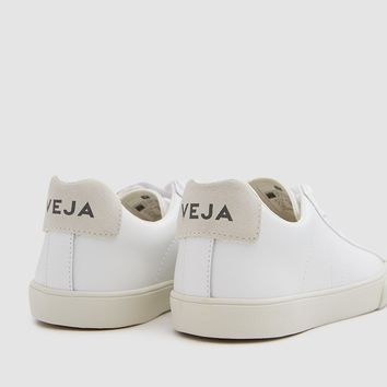 Veja / Esplar Leather Sneaker in Extra White