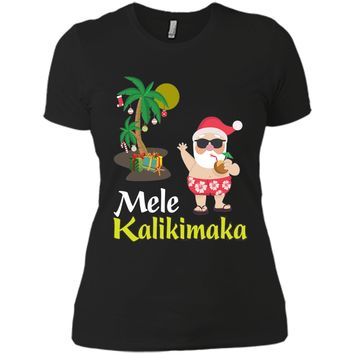 Mele Kalikimaka Hawaiian Merry Christmas T-Shirt Holiday