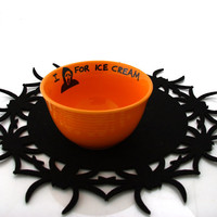 Halloween bowl, Movie Scream Bowl ,  Funny Gift I Scream For Ice Cream Bowl- Horror Fan, orange