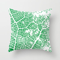 Leaf Texture Throw Pillow by Jcks